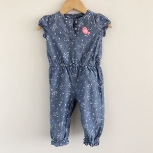 Just One You Carter's Cotton Chambray Jumpsuit 6m